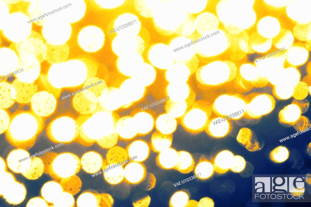 Stock Photo: orange, lights, circles, dots, pattern, design.