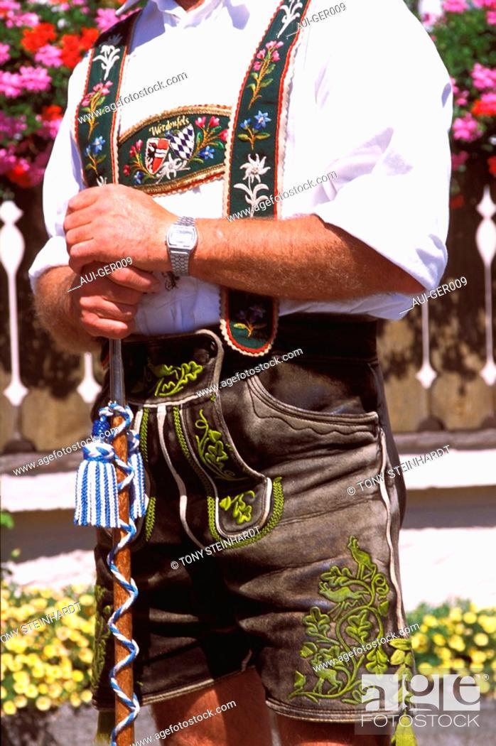 Stock Photo: Germany - Bavaria - Traditional costume.