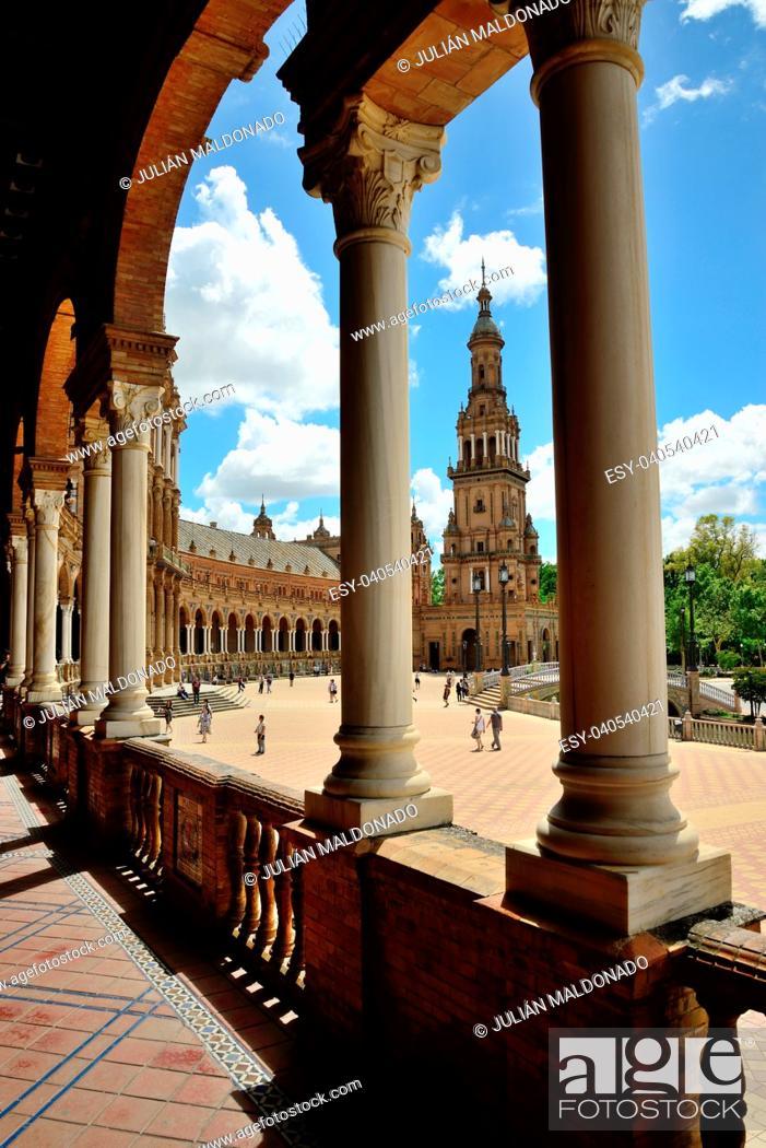 Stock Photo: Plaza de España in Seville.