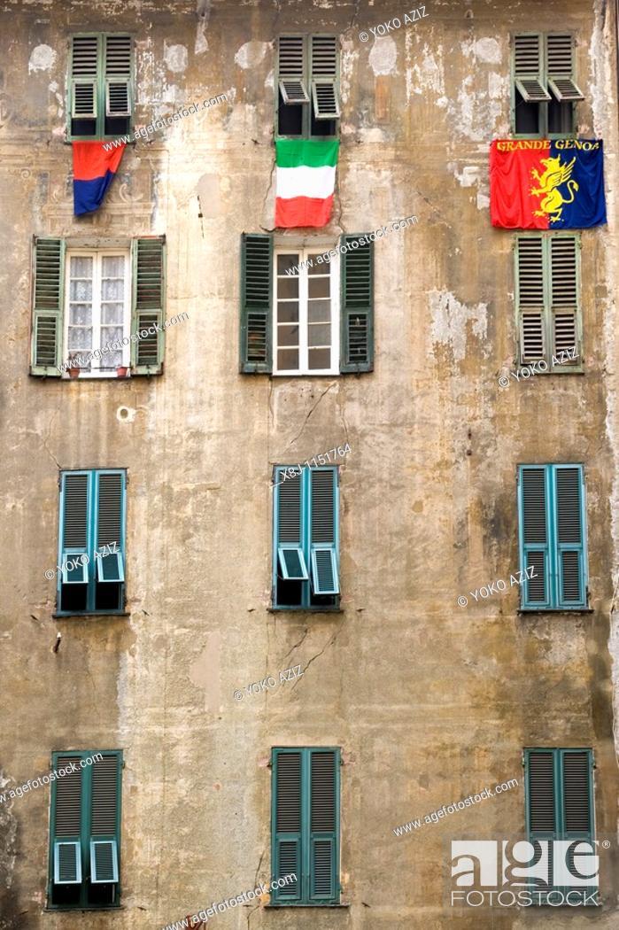 Stock Photo: Caruggi, old town, Genoa, Italy.