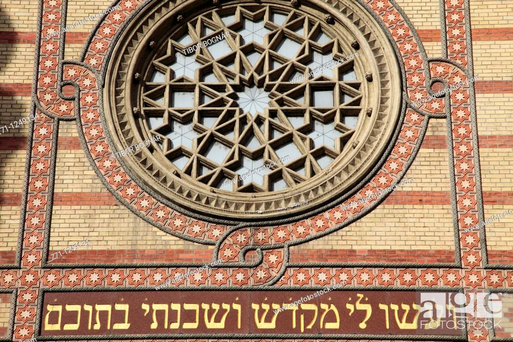 Stock Photo: Hungary, Budapest, Great Synagogue,.