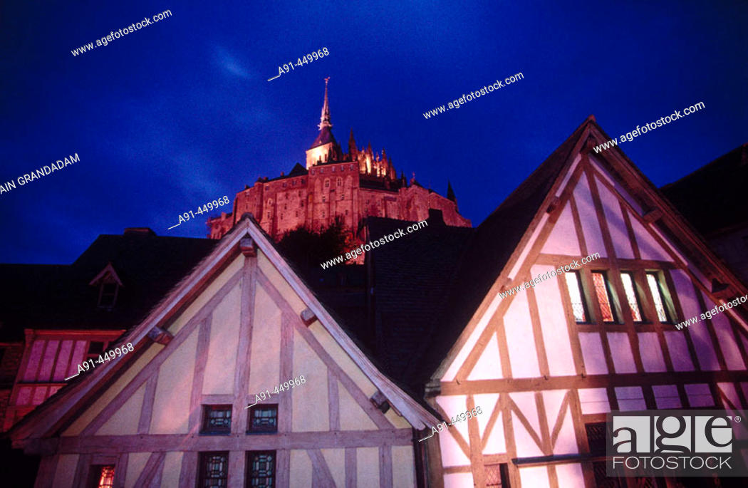 Stock Photo: Mont Saint Michel. Manche. Normandy. France.