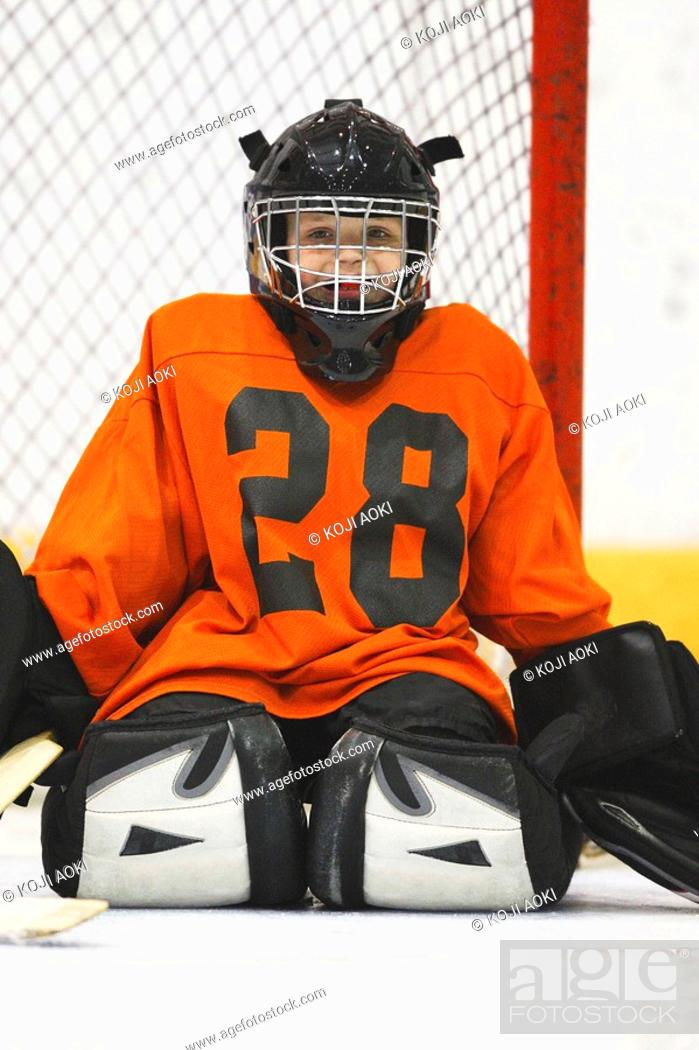 Stock Photo: Young Goal Tender.
