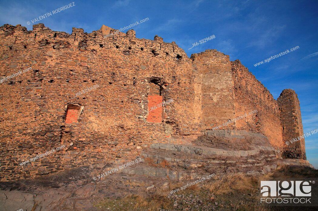 Stock Photo: Castle of Trasmoz in the region of Moncayo. Zaragoza.