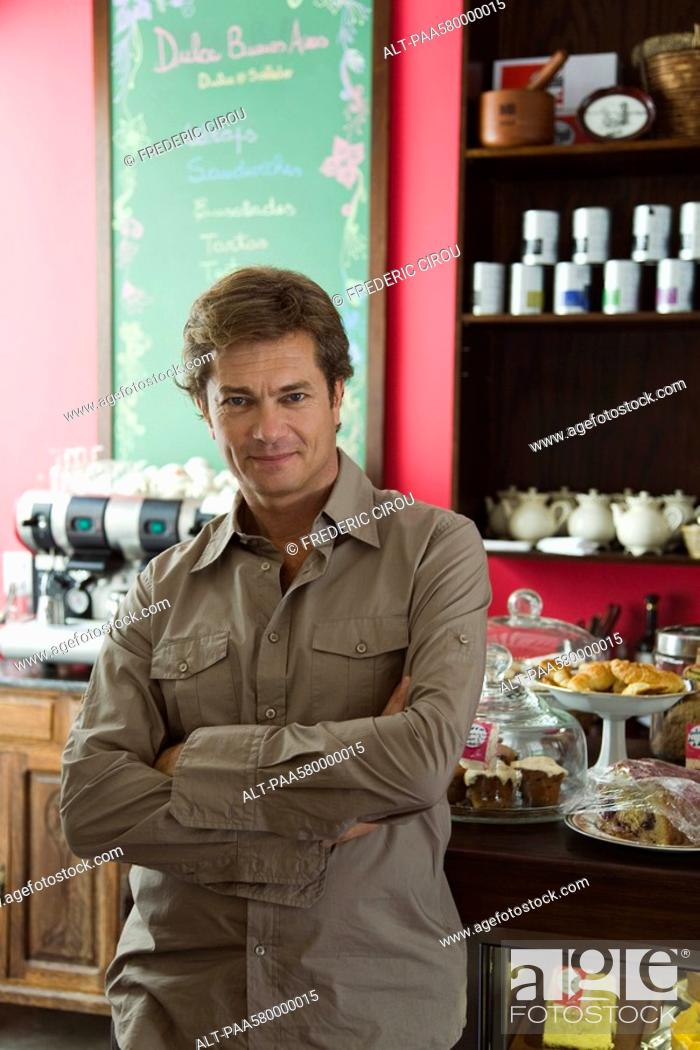 Stock Photo: Cafe owner, portrait.