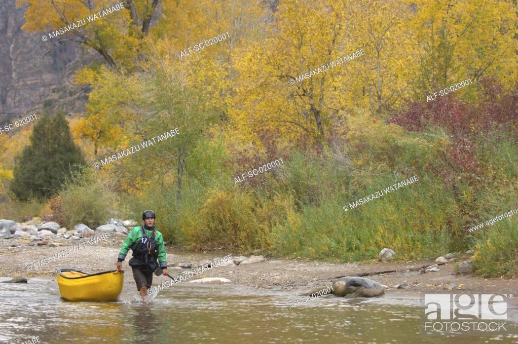 Stock Photo: Lone Kayaker.