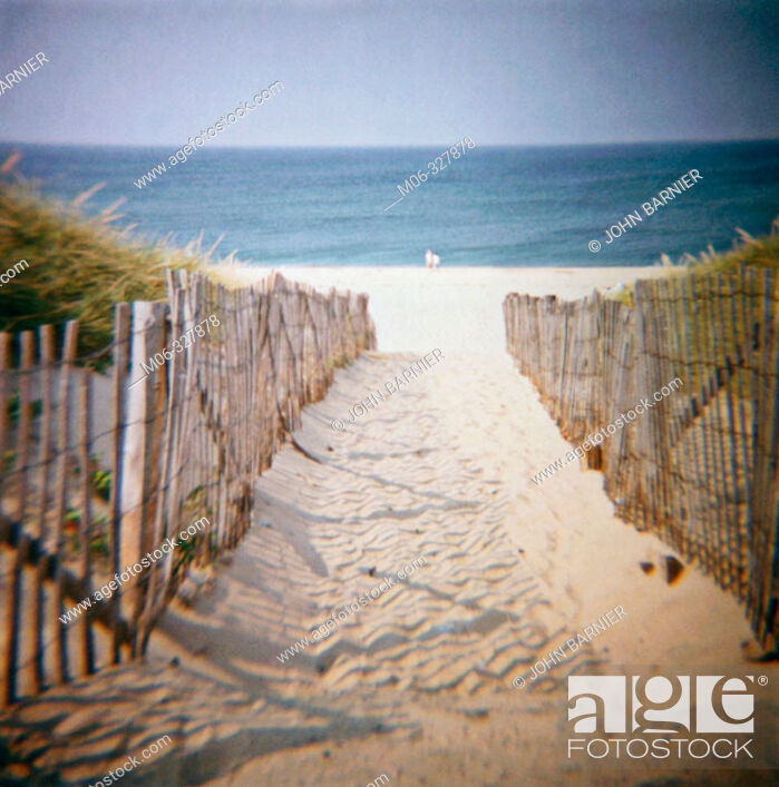 Stock Photo: Beach on the Cape Cod national seashore, near Truro. Massachusetts, USA.