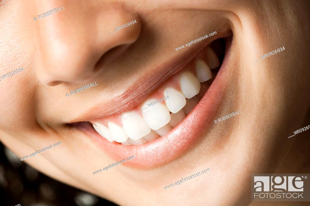 Stock Photo: Close-up of smile.
