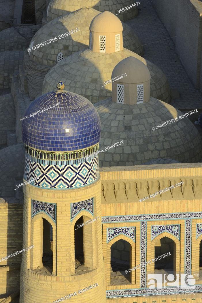Stock Photo: Uzbekistan, Khorezm, Unesco World Heritage Site, Khiva, Walled city of Itchan Qala; Eastern gate.