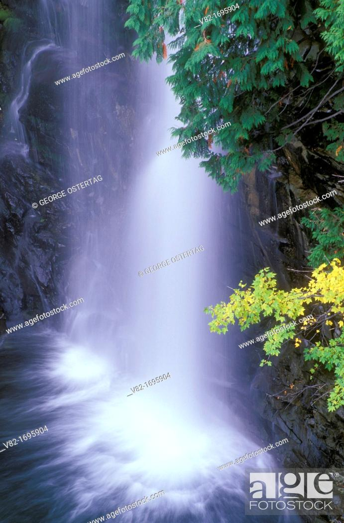 Stock Photo: Cedar Creek Falls, Okanogan National Forest, Washington, USA.