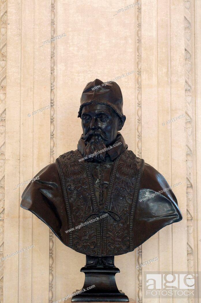 Stock Photo: Gian Lorenzo Bernini - Le Bernin Pope Urbain VIII - XVII th century.