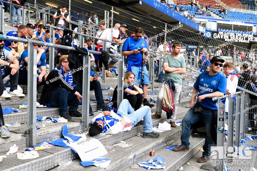 Hsv Hamburg Hamburg Fans After The Descent Disappointed In The Block Stock Photo Picture And Rights Managed Image Pic Pah 103253339 Agefotostock
