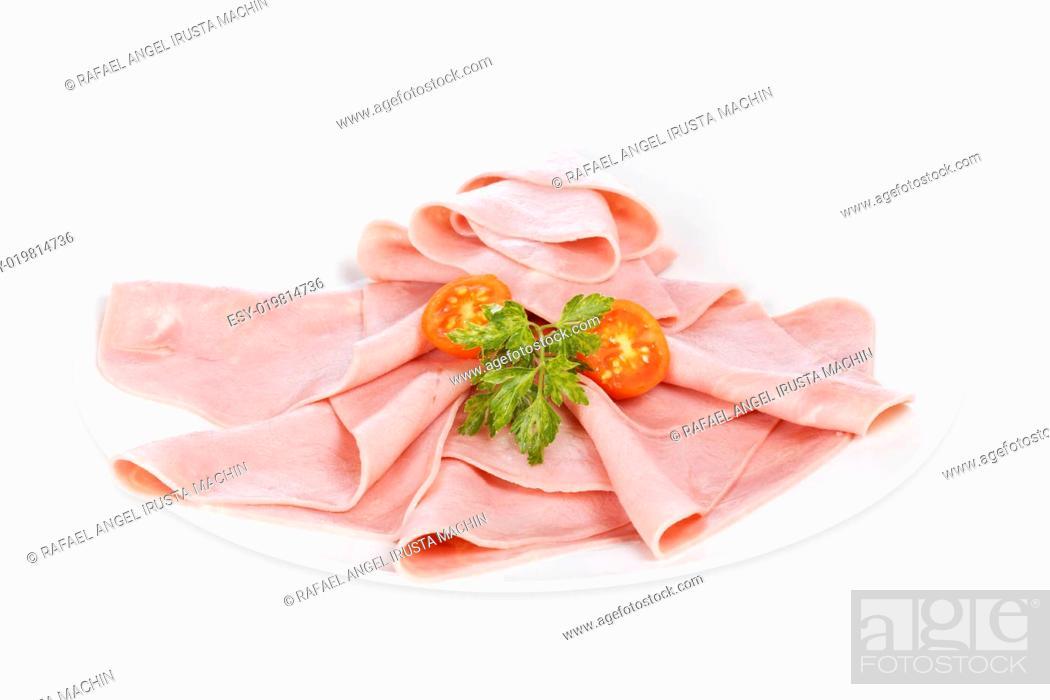 Stock Photo: Slices of tasty ham.