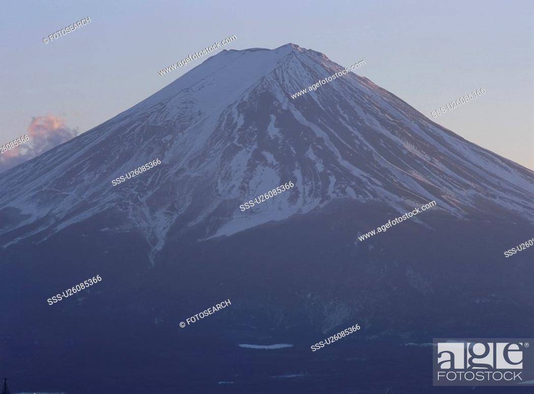 Stock Photo: Mt. Fuji Of Twilight.