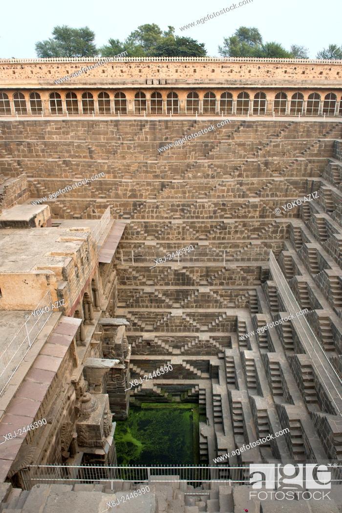 Imagen: India, Rajasthan, Abhneri, water tank.