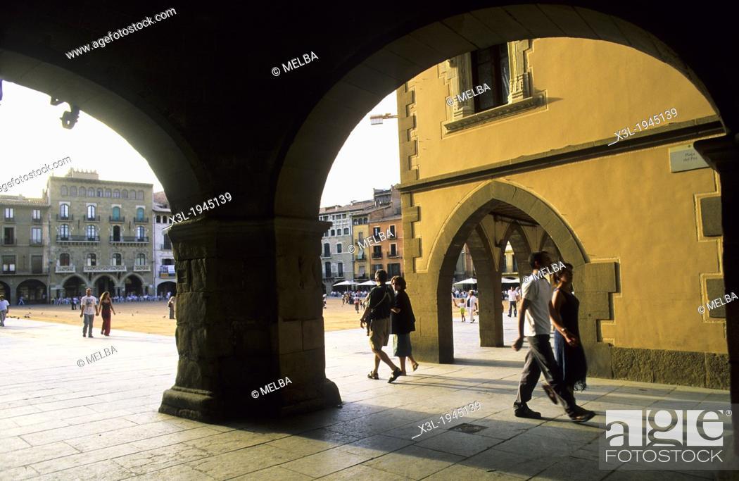 Stock Photo: Vic square. Barcelona. Catalunya. Spain.