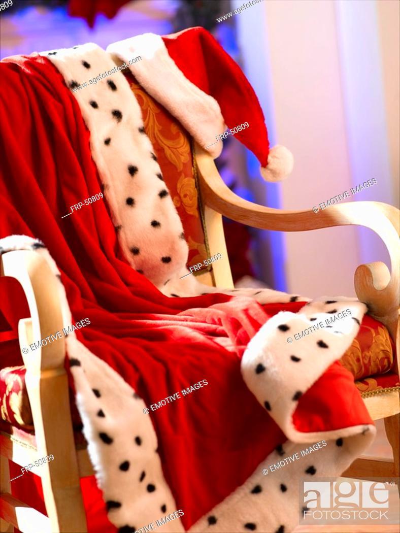 Stock Photo: Santa Claus hat and jacket.