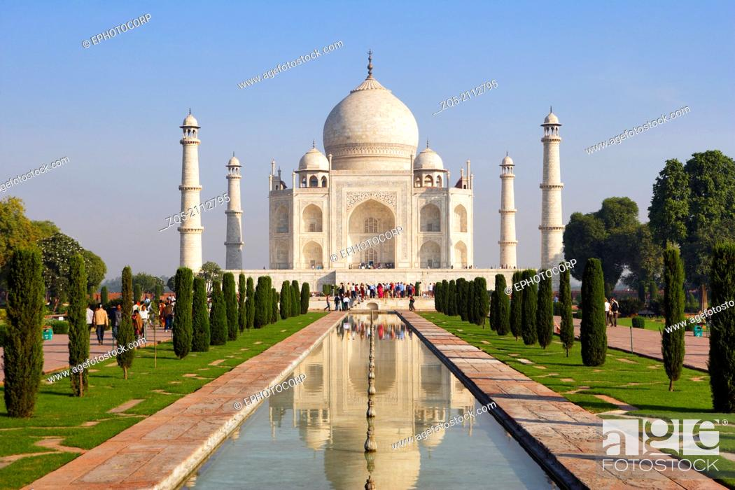 Imagen: Taj Mahal, Agra, Uttar Pradesh, India, UNESCO World Heritage Site.