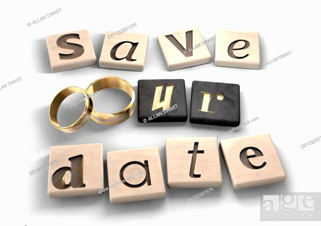 Stock Photo: Save Our Date.
