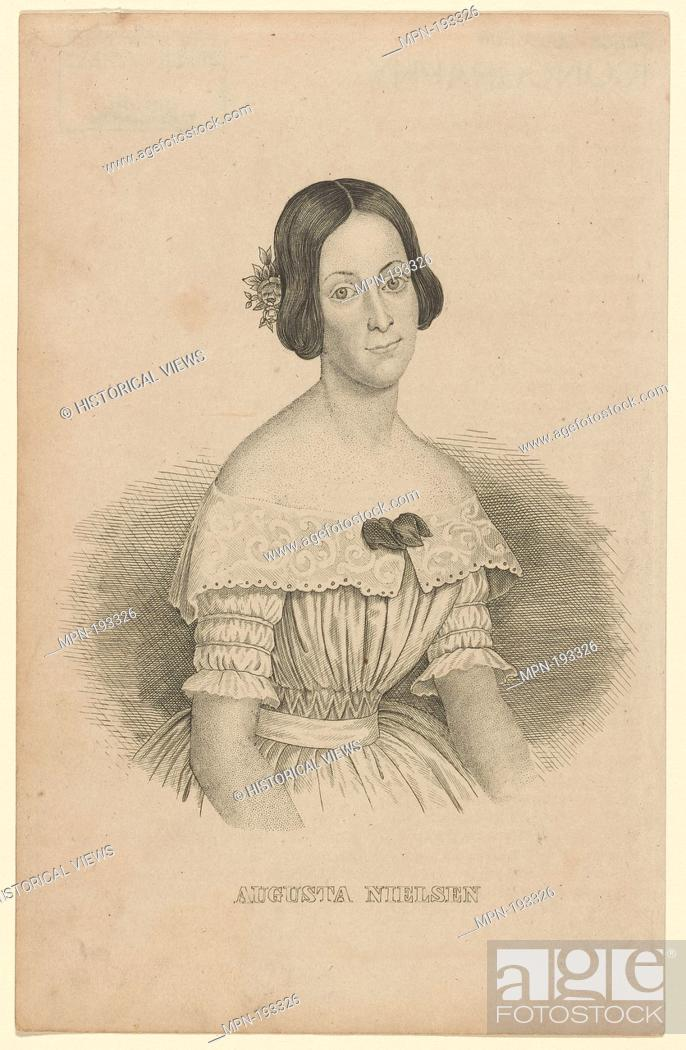 Imagen: Augusta Nielsen. Additional title: Portrait. Nielsen, Augusta, 1822-1902 (Dancer). Prints depicting dance Theatrical dancers, singly or in pairs.