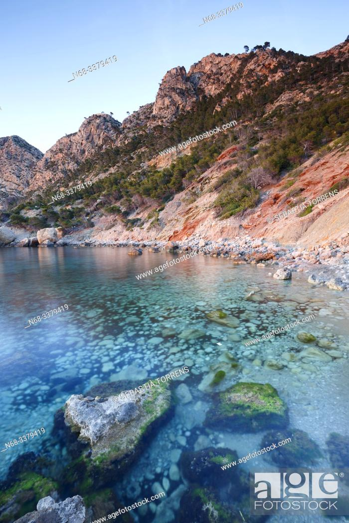 Stock Photo: View of Cala en Basset, Andratx, Majorca, Spain.