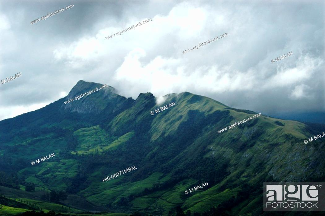 Stock Photo: WESTERN GHATS DURING MONSOON.