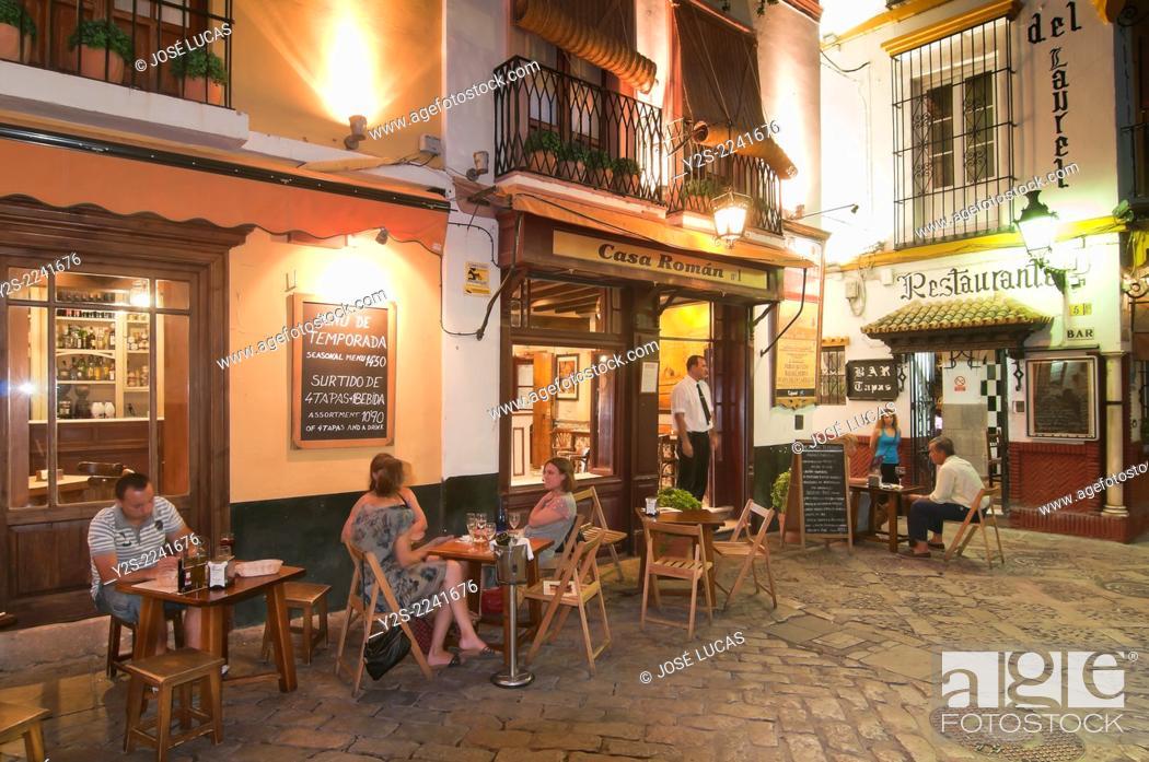 Santa Cruz Quarter Typical Restaurants Seville Region Of
