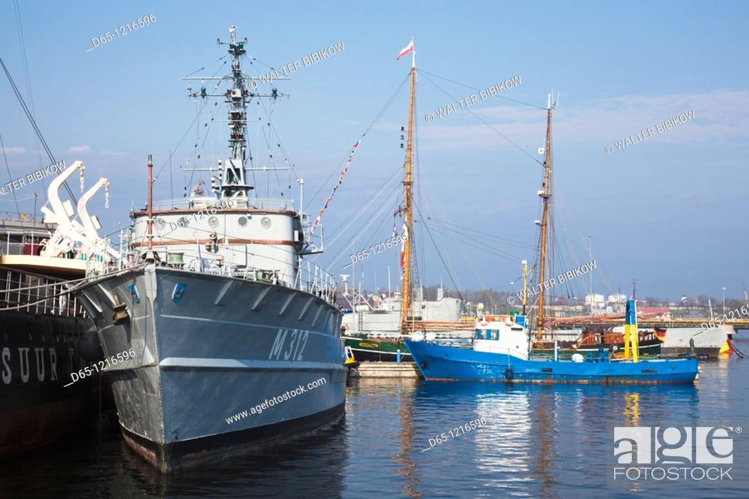 Stock Photo: Estonia, Tallinn, Estonian Maritime Museum, museum ships.