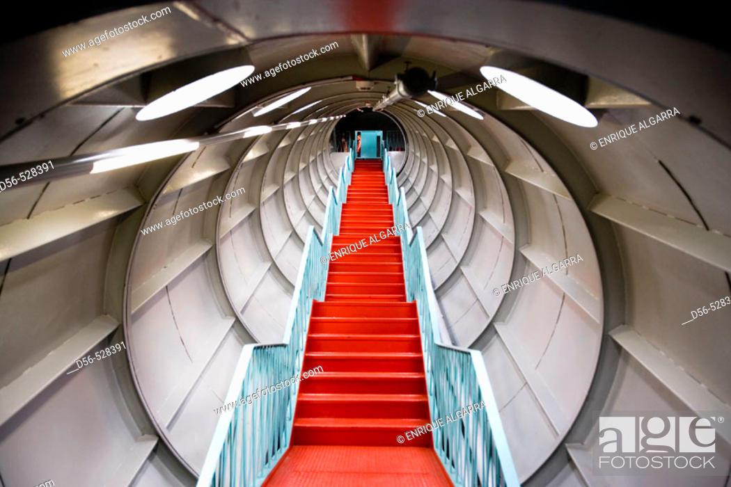 Stock Photo: Interior of the Atomium, Brussels. Belgium.