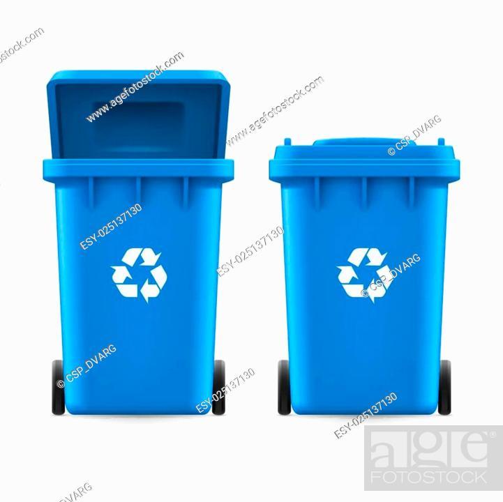Stock Vector: Buckets for trash.