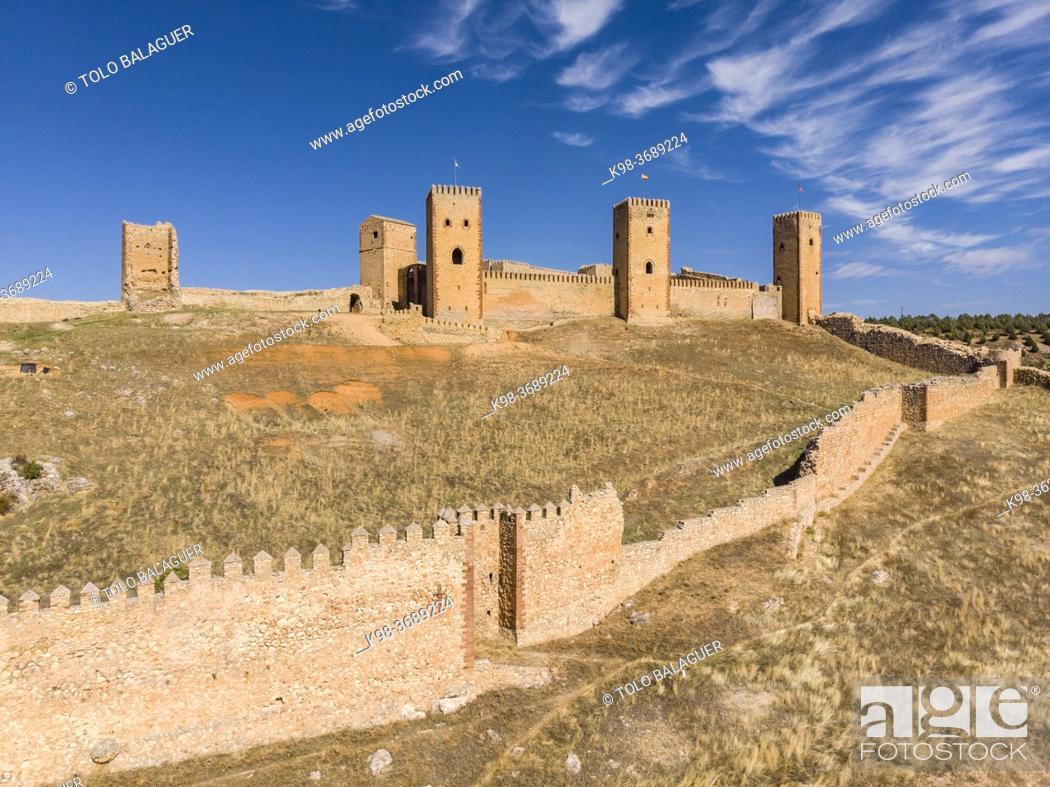 Stock Photo: fortress of Molina de los Caballeros, Molina de Aragón, province of Guadalajara, Spain, .