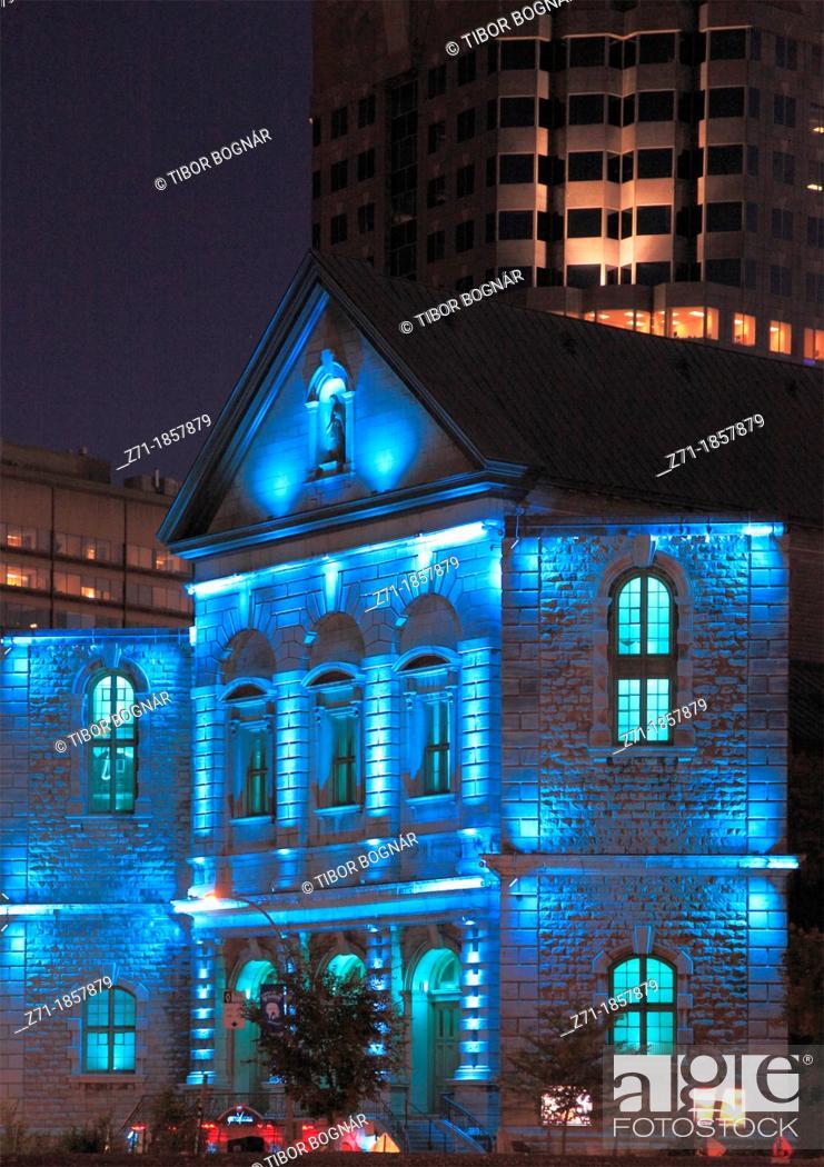 Stock Photo: Canada, Quebec, Montreal, rue de Bleury, historic architecture,.