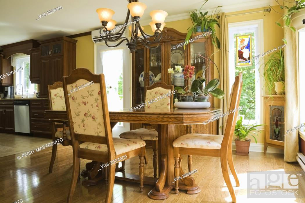 Wondrous Antique Wooden Dining Table With Upholstered Chairs In The Unemploymentrelief Wooden Chair Designs For Living Room Unemploymentrelieforg