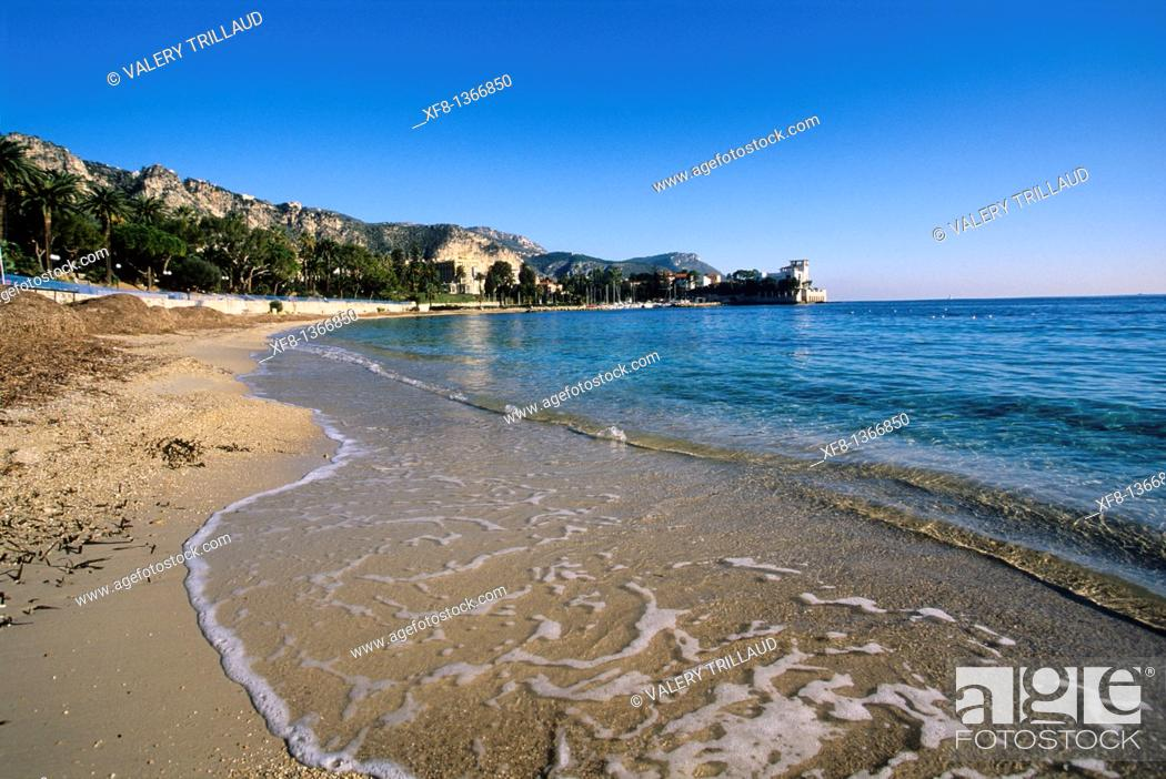 Stock Photo: The Villa Kerylos in the city of Beaulieu sur mer, Alpes-Maritimes, French Riviera, Provence-Alpes-Côte d'Azur, France.