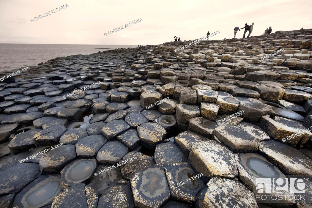 Stock Photo: The Giant's Causeway, Northern Ireland.