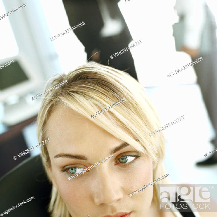 Stock Photo: Businesspeople in office.