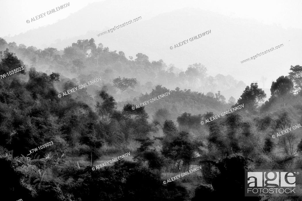 Stock Photo: Landscapes of Laos.