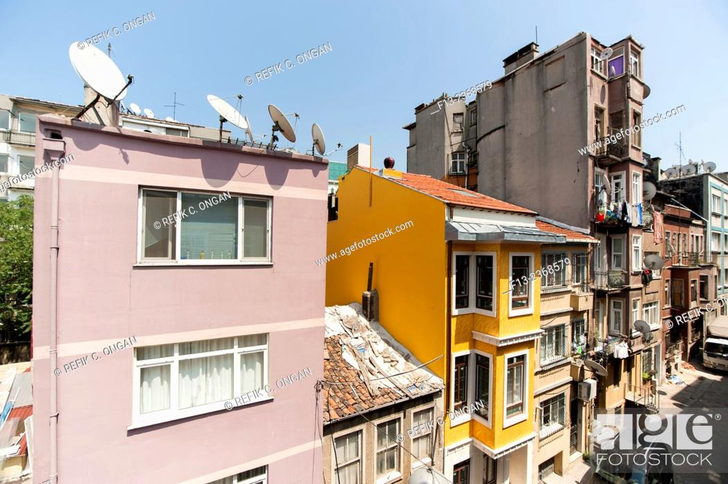 Stock Photo: old style building in Istanbul, Pera.