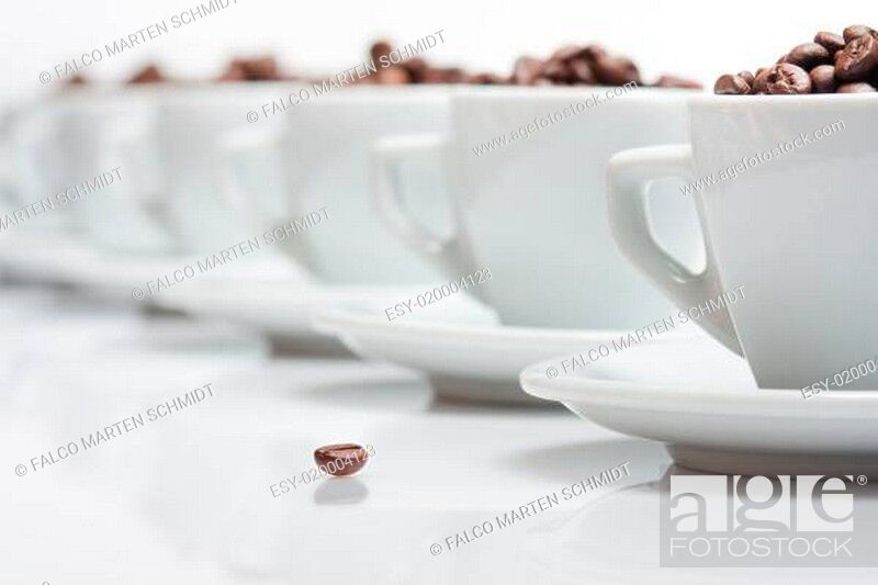 Stock Photo: Kaffeebohnen.