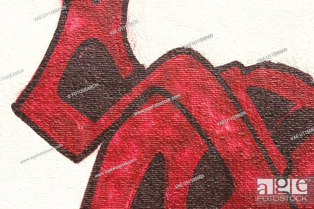 Stock Photo: Black, Canvas, Close-Up, Design.