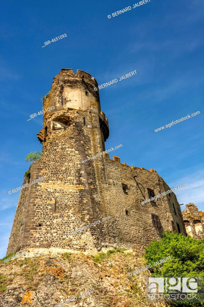 Stock Photo: Medieval Castle of Tournoel, Volvic, Puy de Dome department, Auvergne, France.