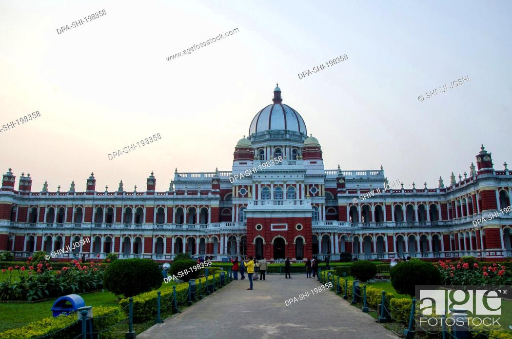 Stock Photo: Raja palace, cooch, behar, west bengal, india, asia.