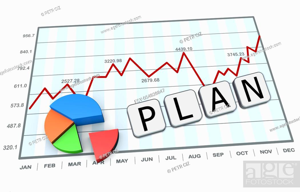 Stock Photo: Business plan as a concept.