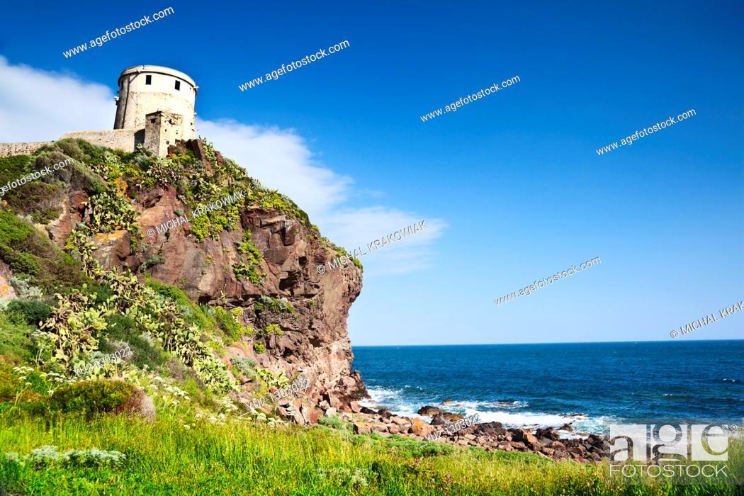 Stock Photo: Coastal landscape of Sardinia  Photo taken near Pula.