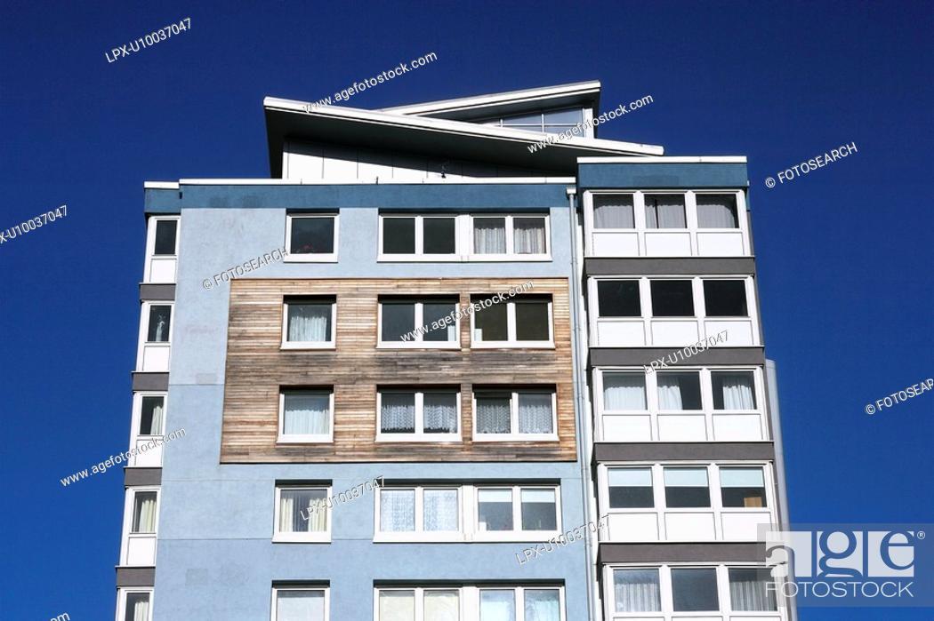 Stock Photo: Modern apartment building.