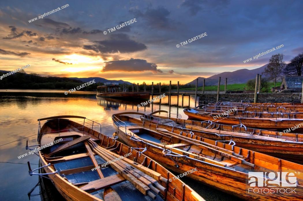 Stock Photo: derwent water,Lake District, Cumbria, England, UK.