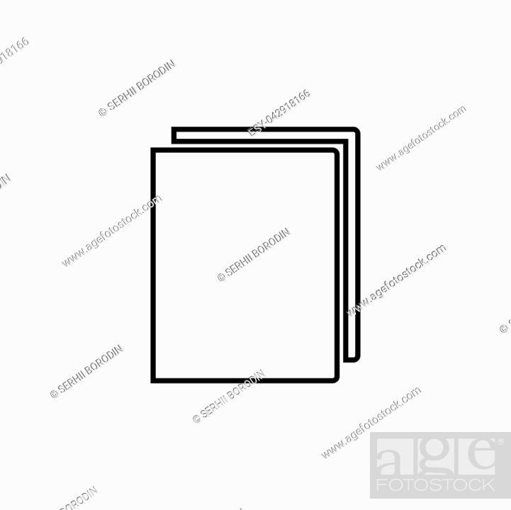 Stock Vector: Book it is black color icon .