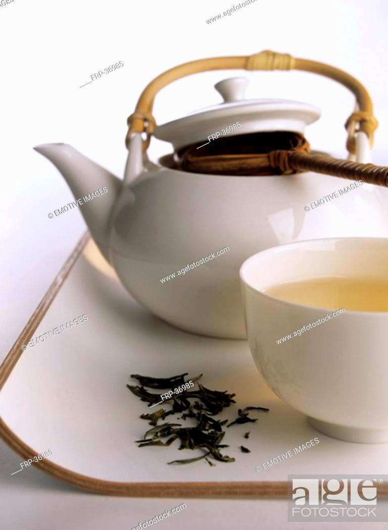 Stock Photo: Teapot and bowl.