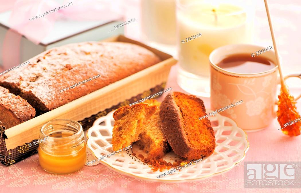 Stock Photo: Fruit cake.