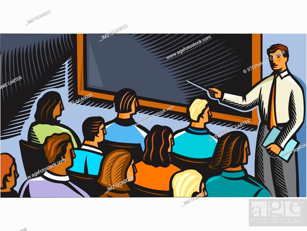 Stock Photo: sales class.